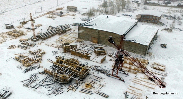 production site Bear log in Khakassia