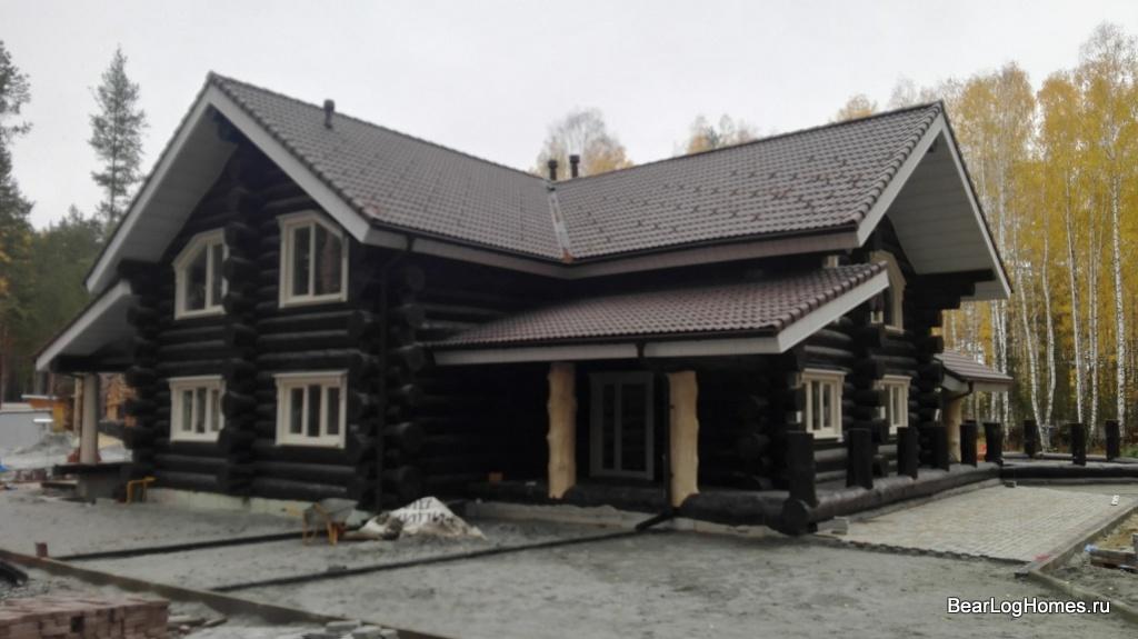 House made of cedar under the key