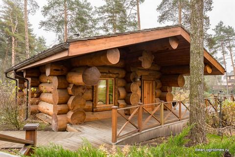 Баня из большого бревна кедра Медвежий угол