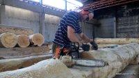 Workplace Bear log - cedar houses