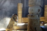 Making carved pillars