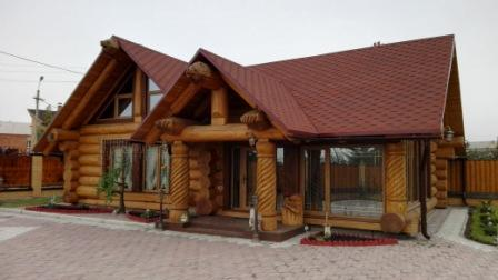 """Guest house with a bathhouse made of cedar """"Babik"""""""
