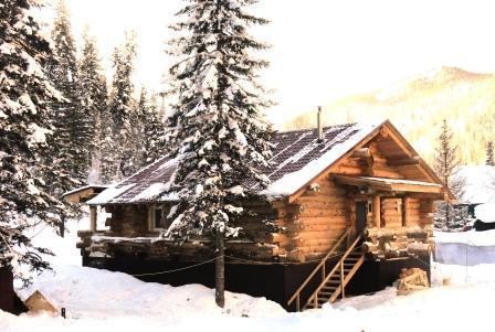 Guest house with a cedar bath